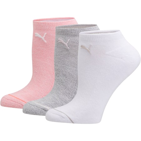 Women's No Show Socks [3 Pack], PSTL COMBO, small